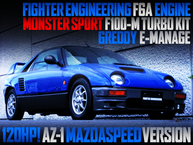 FIGHTER F6A AND MONSTER F100M TURBO INTO A AZ1 MAZDASPEED VERSION