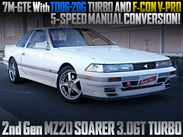 7M-GTE WITH TD06-20G TURBO AND VPRO INTO A MZ20 SOARER TO 5MT CONVERSION