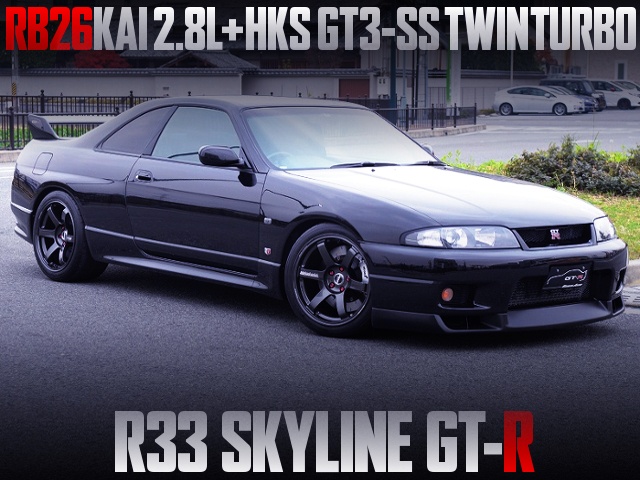 RB26 2800cc WITH GT3-SS TWINTURBO INTO R33 GT-R
