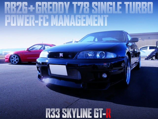 RB26 With T78 TURBO AND POWER-FC INTO A R33 GT-R TO BLACK