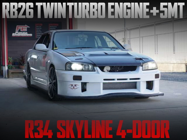 RB26DETT AND 5MT INTO A R34 SKYLINE 4-DOOR SEDAN