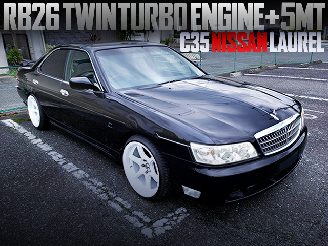 RB26 TWINTURBO SWAPPED C35 LAUREL TO BLACK COLOR