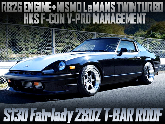 RB26 NISMO LEMANS TURBOS INTO A S130 FAIRLADY 280Z T-BAR ROOF