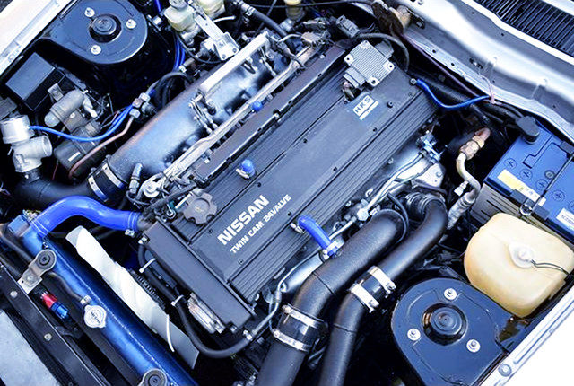 RB26 TWINTURBO ENGINE WITH RB20 VALVE COVER