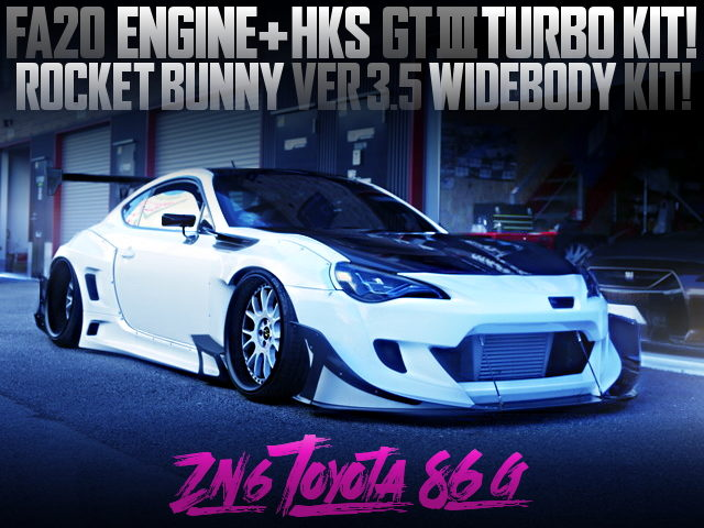 GT3 TURBO And ROCKET BUNNY WIDEBODY Ver35 OF ZN TOYOTA 86 G
