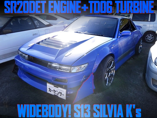 SR20DET TD06 TURBO INTO A S13 SILVIA TO WIDEBODY AND BLUE PAINT