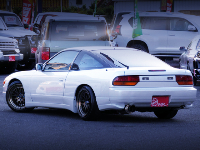 REAR EXTERIOR OF 180SX OF PEARL WHITE