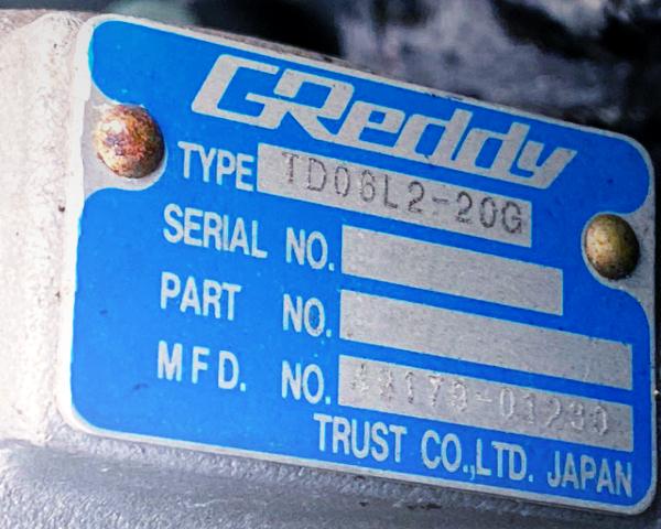 GREDDY TD06L2-20G TURBOCHARGER