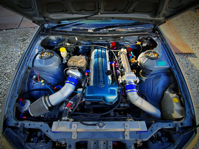 2JZ-GTE WITH HKS TO4Z SINGLE TURBO