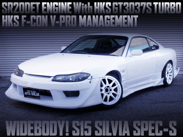 SR20DET With GT3037S TURBO AND FCON VPRO INTO A S15 SILVIA SPEC-S TO WIDEBODY