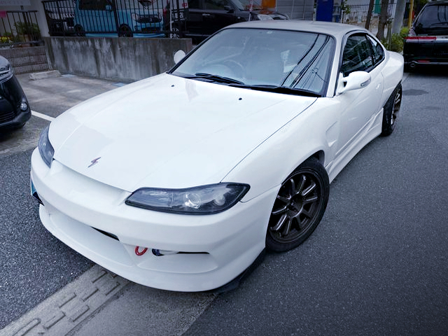FRONT EXTERIOR S15 SILVIA TO WHITE COLOR