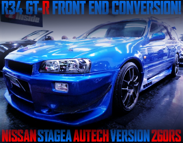 R34 GTR FRONT END TO WGNC34 STAGEA AUTECH Ver 260RS