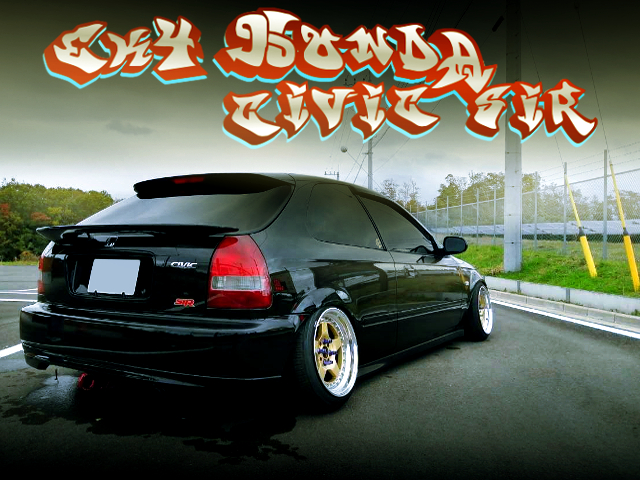 STANCE AND CAMBER MODIFIED EK4 CIVIC HATCH SiR