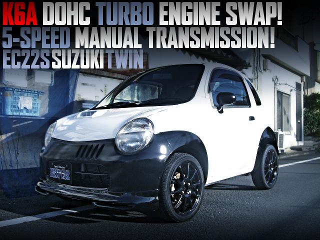 K6A DOHC TURBO ENGINE SWAPPED EC22S SUZUKI TWIN