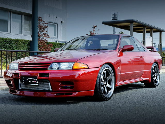 FRONT EXTERIOR R32 GT-R RED