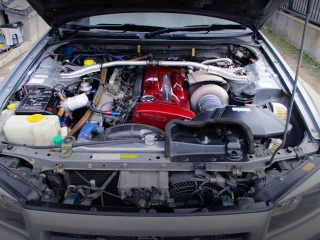 RB26 SINGLE TURBO ENGINE OF R34 GT-R ENGINE ROOM