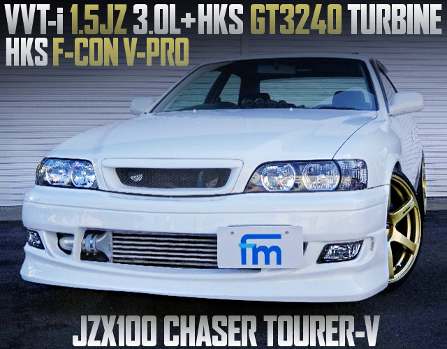 15JZ 3000cc With GT3240 TURBO INTO JZX100 CHASER TOURER-V