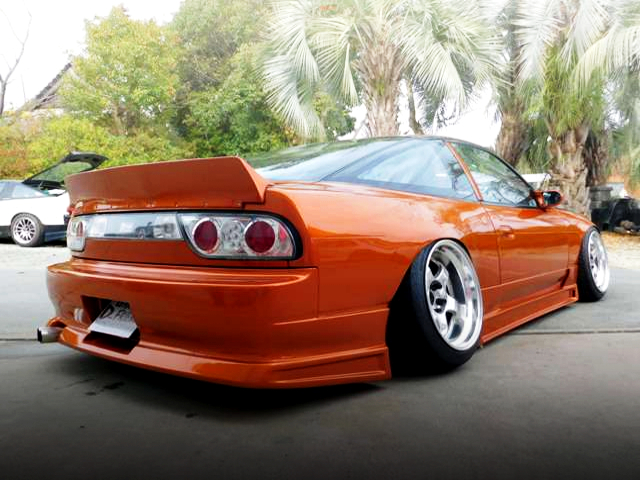 REAR EXTERIOR OF 180SX WIDEBODY