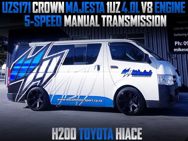 1UZ V8 AND 5MT CONVERSION TO H200 TOYOTA HIACE