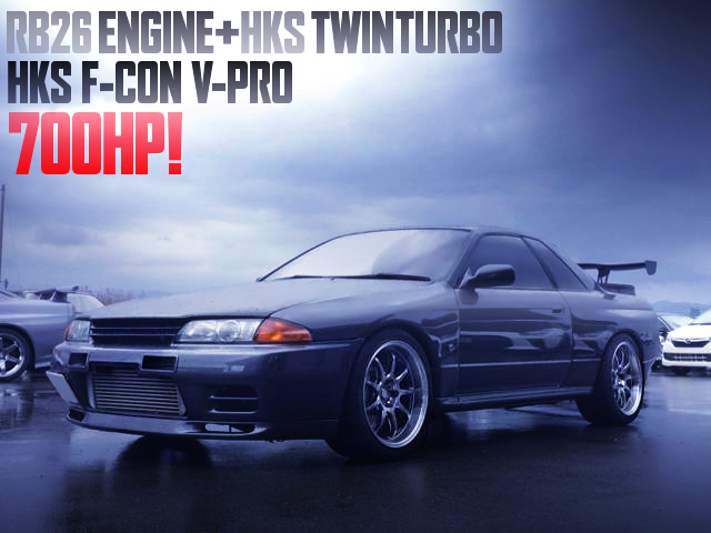700HP HKS TWINTURBO AND F-CON V-PRO OF R32 GT-R