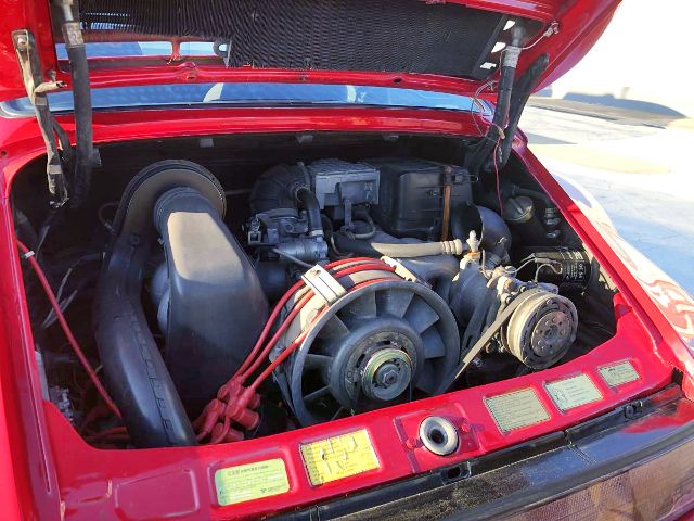 FLAT SIX 3200cc ENGINE OF PORSCHE 930 MOTOR