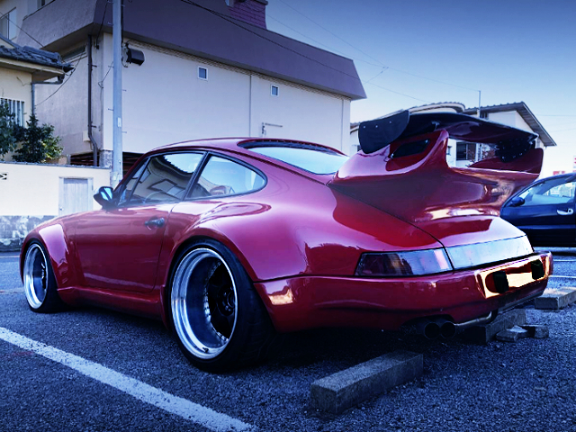 REAR EXTERIOR OF 930 PORSCHE 911 CARRERA 32 WIDEBODY