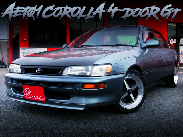 WORK EQUIP 01 WHEEL AND LOWDOWN CUSTOM TO AE101 COROLLA 4-DOOR GT
