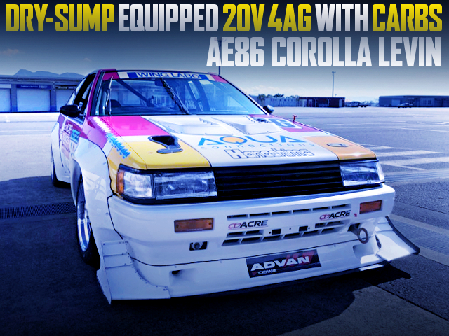 DRY-SUMP EQUIPPED 4AG With CARBS INTO AE86 LEVIN N2 RACER CAR
