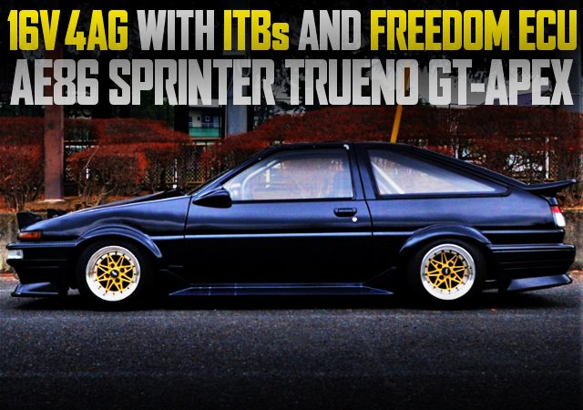16V 4AG With ITBs AND FREEDOM ECU INTO A AE86 TRUENO HATCH