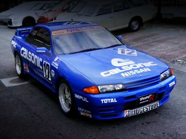 FRONT EXTERIOR R32 SKYLINE GT-R TO CALSONIC BLUE