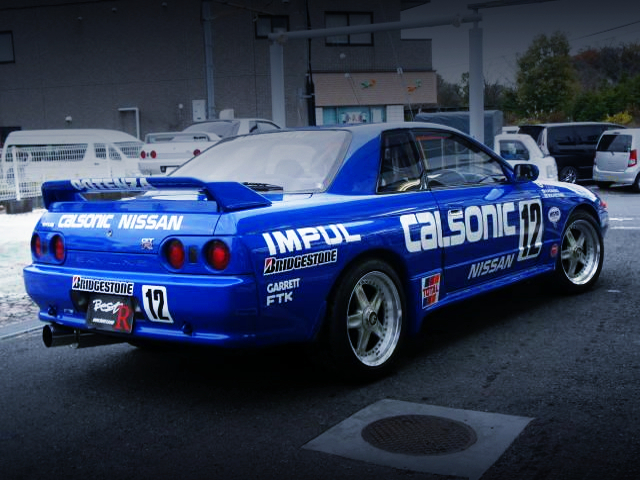 REAR EXTERIOR OF CALSONIC R32 GT-R REPLICA