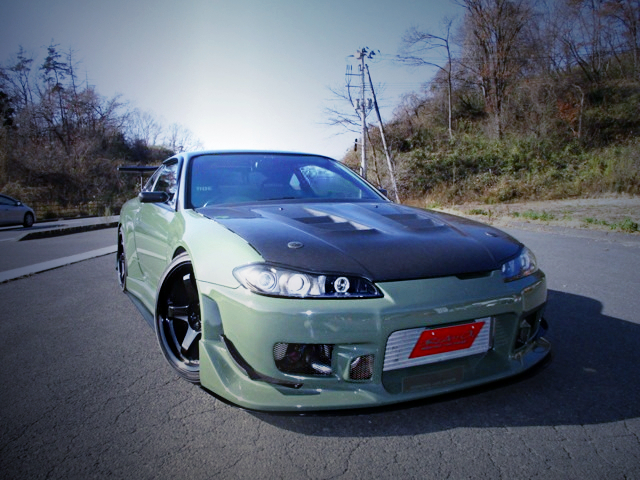 FRONT EXTERIOR OF S15 SILVIA TO C-WEST GT WIDEBODY