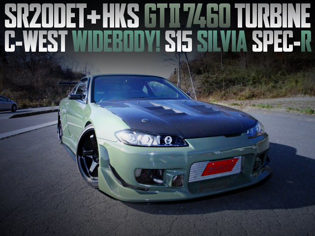 C-WEST WIDEBODY AND GT2-7460 TURBO WITH S15 SILVIA TO PAINTED GREEN
