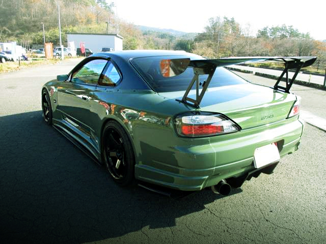 REAR EXTERIOR OF S15 SILVIA TO C-WEST WIDEBODY