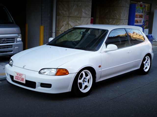 FRONT EXTERIOR EG6 CIVIC SIR TO WHITE