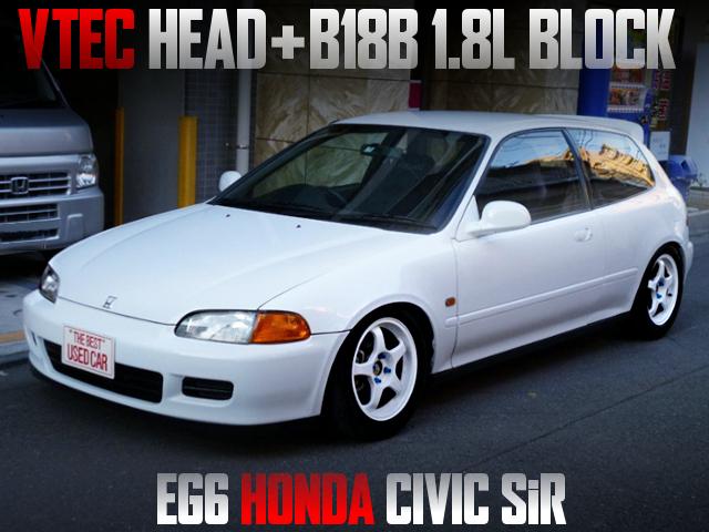 VTEC HEAD ON B18B BLOCK INTO EG6 CIVIC SIR