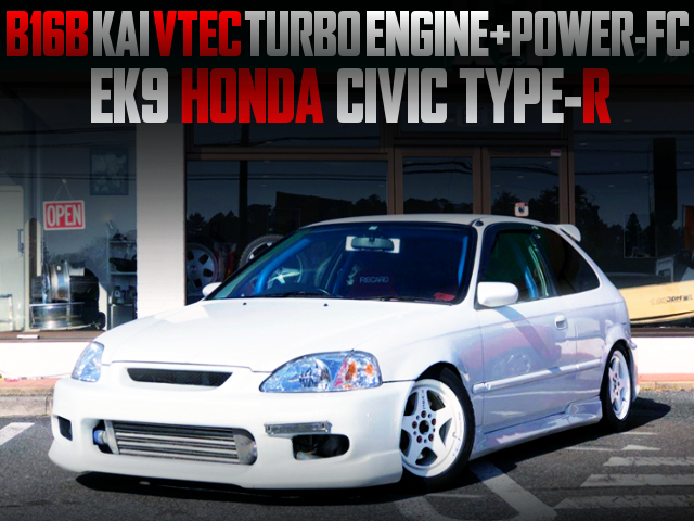 B16B KAI VTEC TURBO INTO EK9 CIVIC TYPE-R TO CHAMPIONSHIP WHITE