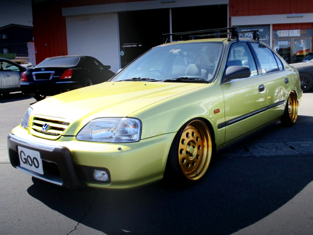 FRONT EXTERIOR OF 2nd Gen CIVIC FERIO TO GOLD PAINT