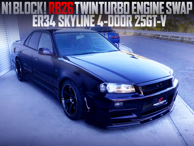RB26 TWINTURBO AND 5MT INTO ER34 SKYLINE 4-DOOR 25GTV