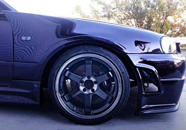 FRONT TE37SL WHEEL AND Brembo BRAKE