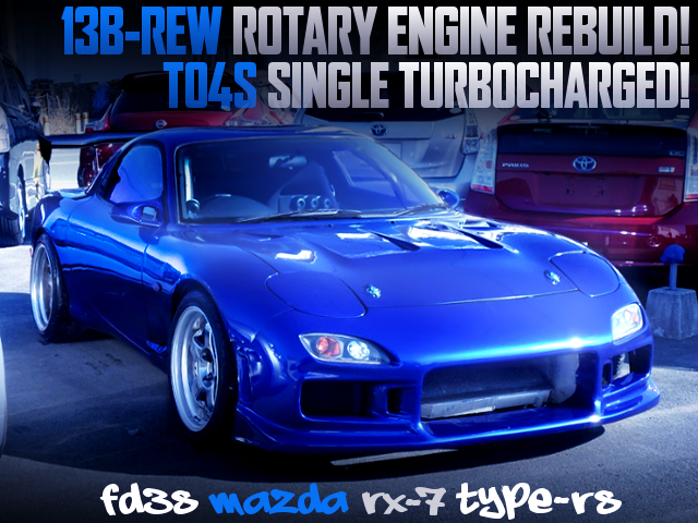 13B-REW REBUILD AND TO4S SINGLE TURBO INTO A FD3S RX-7 TYPE-RS OF BLUE COLOR