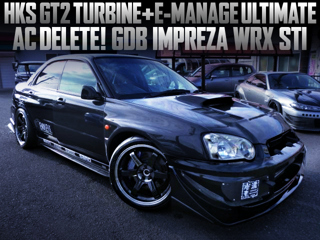 HKS GT2 TURBO AND E-MANAGE ULTIMATE WITH GDB BLOBEYE IMPREZA WRX STI