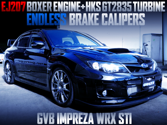 GT2835 TURBO AND ENDLESS CALIPERS INTO GVB IMPREZA WRX STI