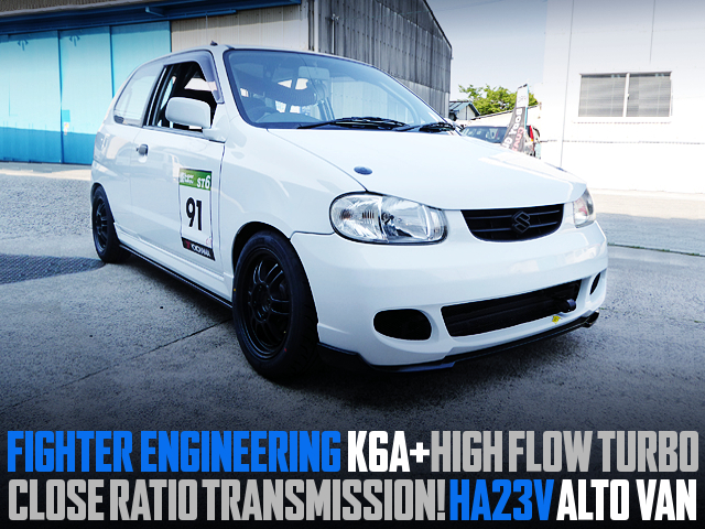 FIGHTER K6A AND HIGH FLOW TURBO INTO HA23V ALTO VAN