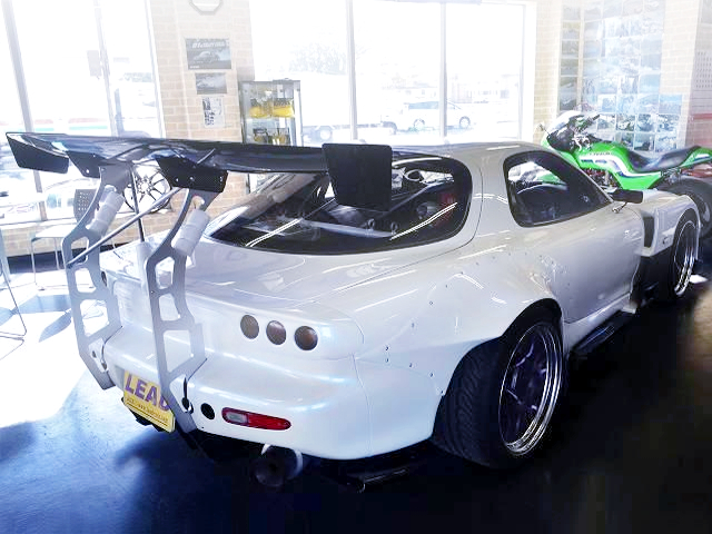 REAR EXTERIOR OF FD3S RX-7 TYPE-R2 WIDEBODY