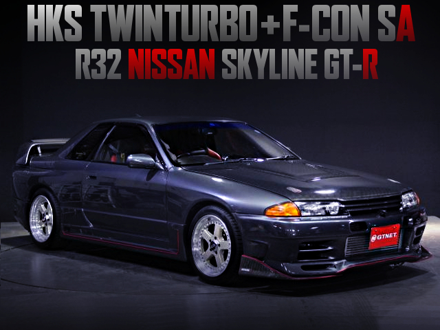 RB26 With HKS TWINTURBO AND F-CON SA INTO A R32GT-R GUN METALLIC