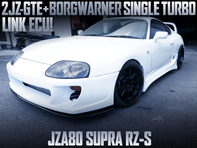 2JZ-GTE BW SINGLE TURBO INTO JZA80 SUPRA RZ-S TO WHITE