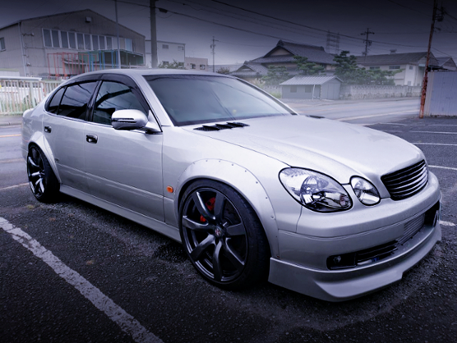 FRONT EXTERIOR OF JZS161 ARISTO TO SILVER COLOR