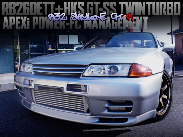 HKS GT-SS TWINTURBO AND POWER-FC OF R32 SKYLINE GT-R