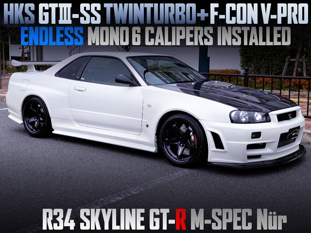 GT-SS TWINTURBO AND V-PRO R34GT-R M-SPEC NUR